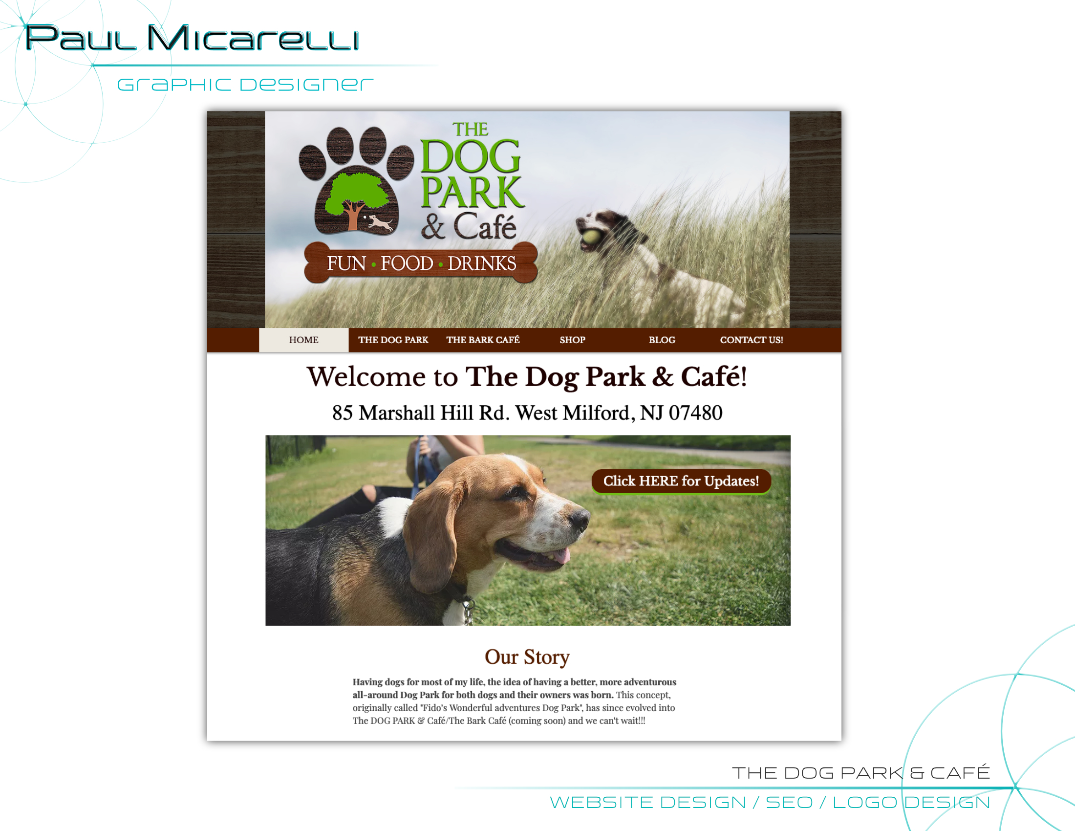 Paul-Micarelli-Dog Park Cafe-Website