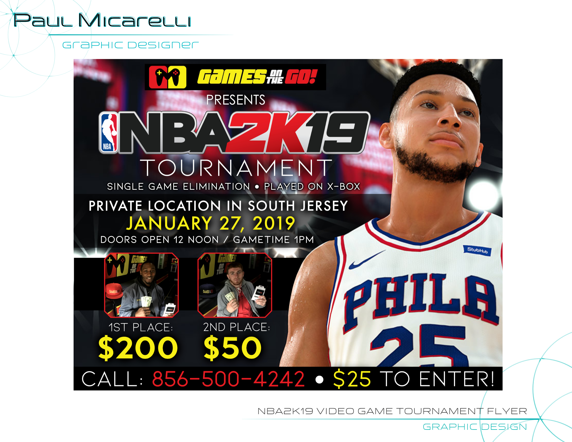 Paul-Micarelli-NBA2K19 Video Game Tourna