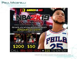 Paul-Micarelli-NBA2K19 Video Game Tourna