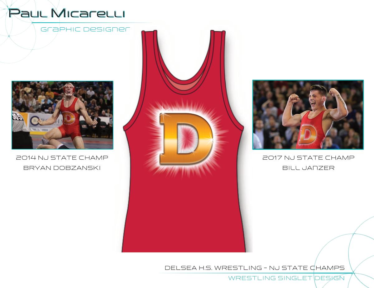 Paul-Micarelli-Delsea Wrestling Singlet.