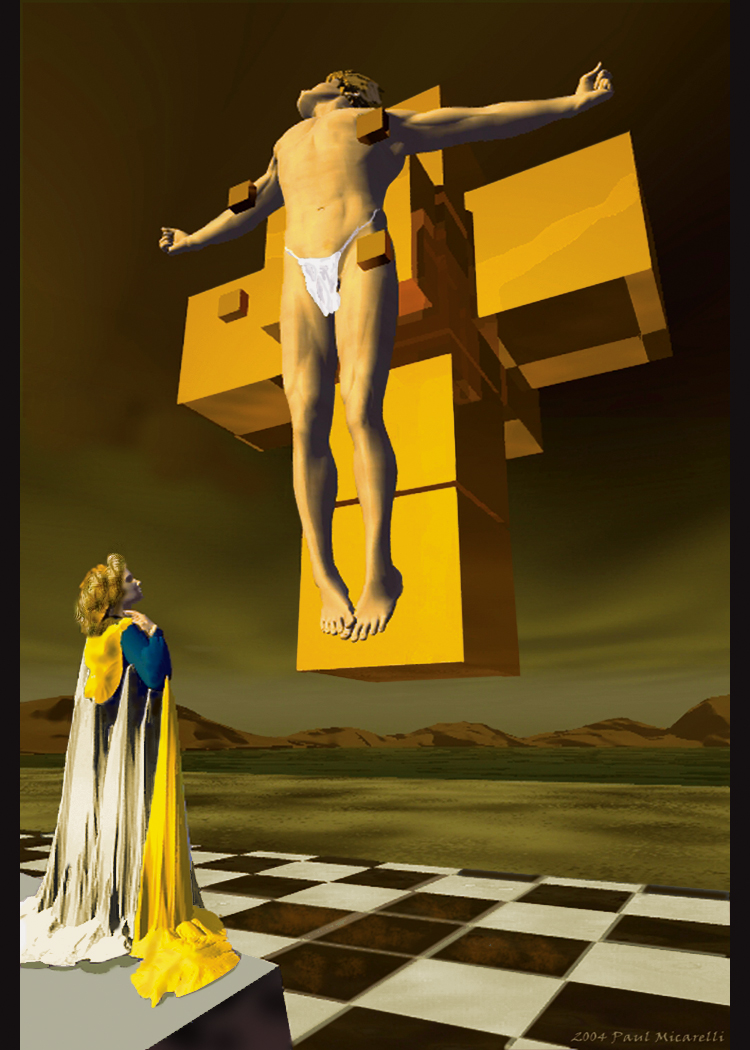 3D Dali Crucifix-Paul Micarelli