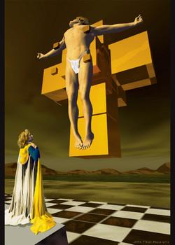 3D Dali Crucifix-Paul Micarelli