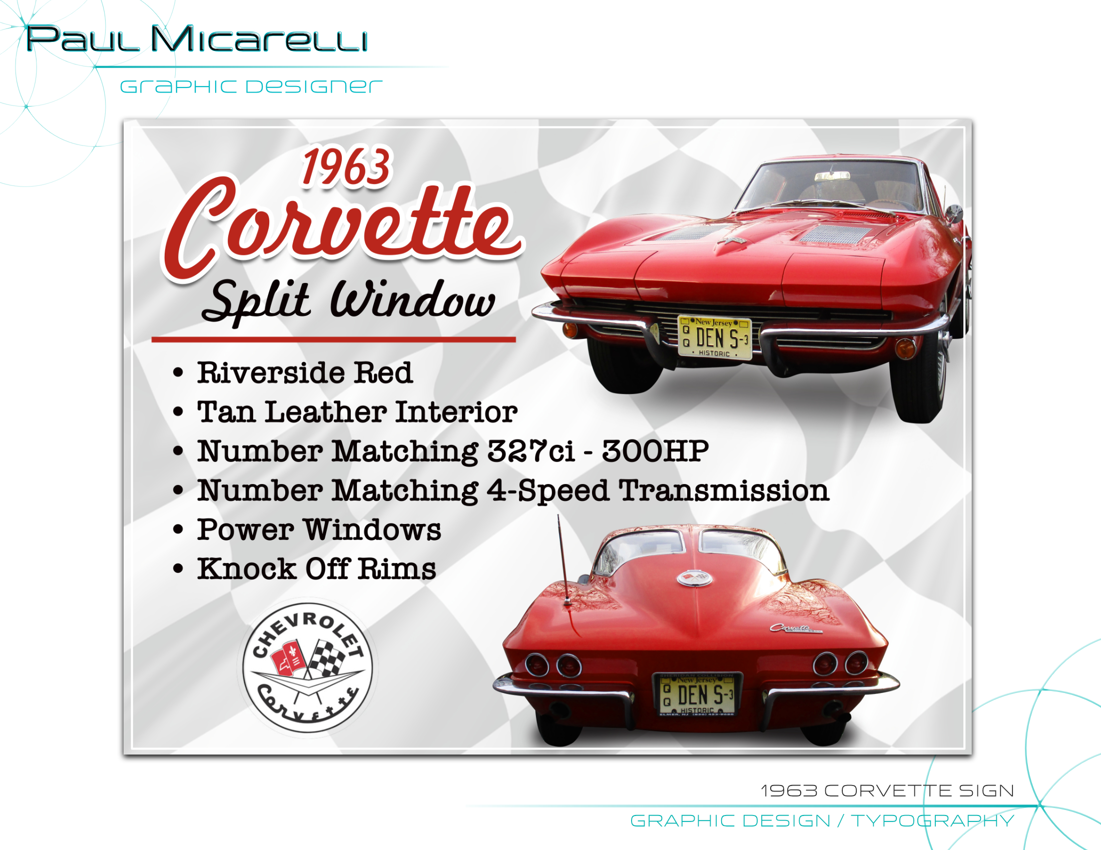 Paul-Micarelli-1963 Corvette Sign
