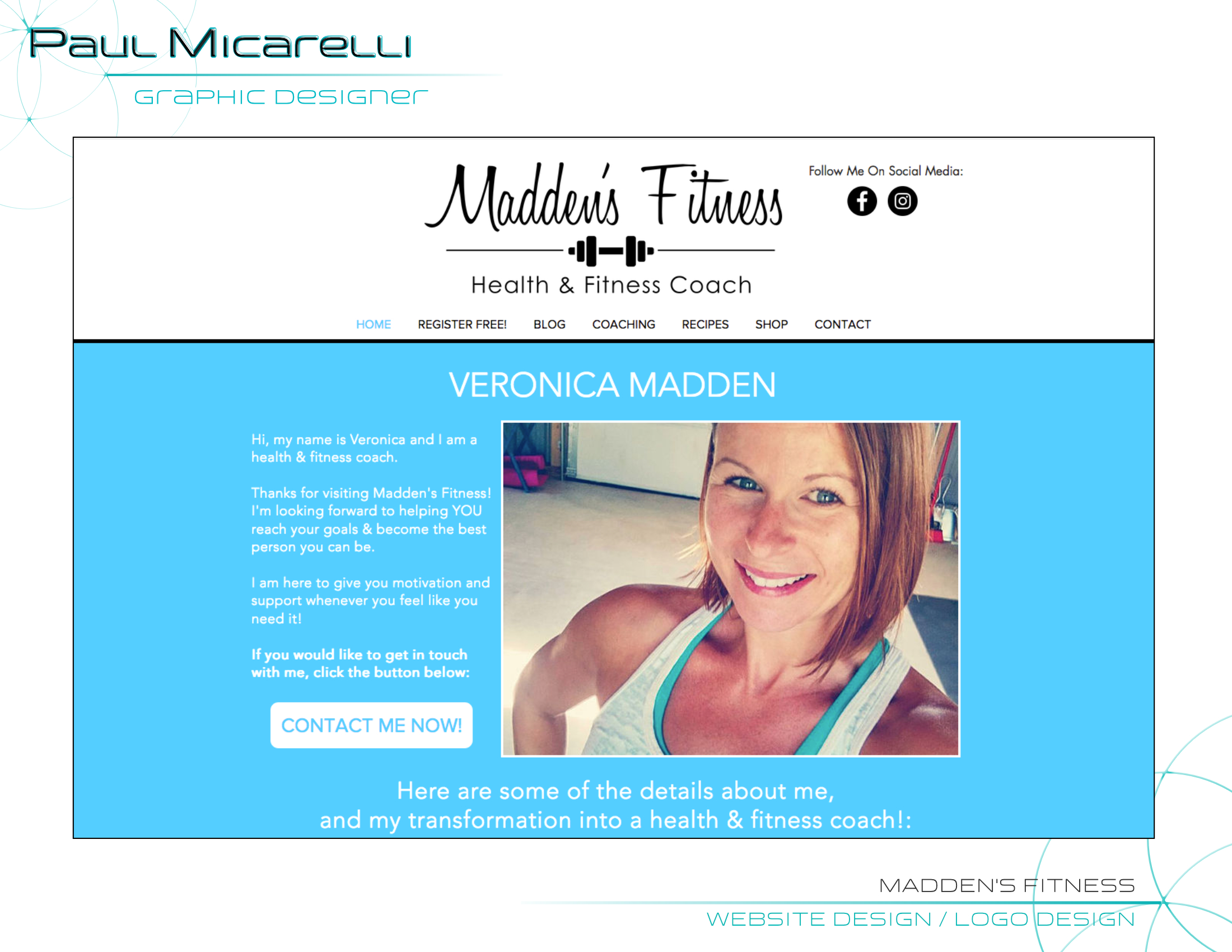 Paul-Micarelli-Maddens Fitness Website