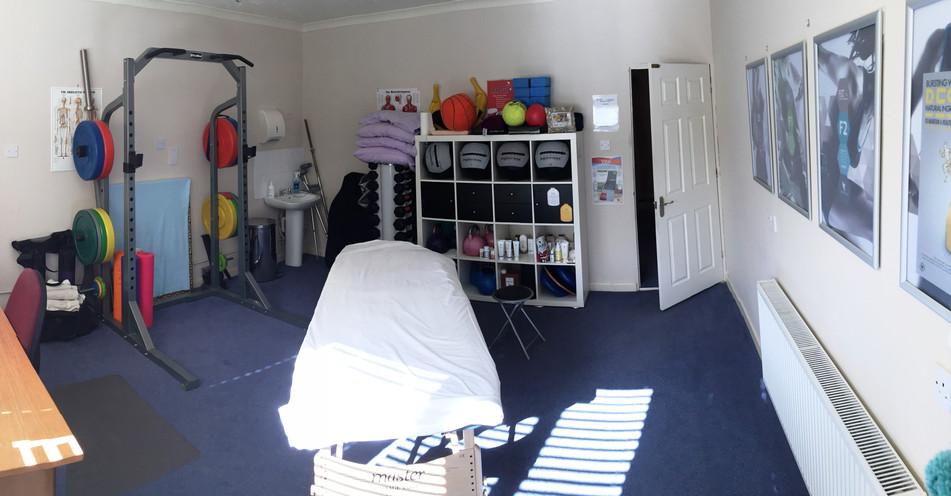 Sports therapist room