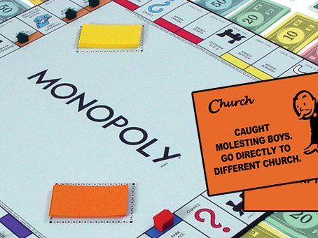 Parker Bros. updates Monopoly game to reflect Christian privilege.