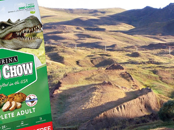 Giant bag of Dino Chow found in Turkey proving Noah's Ark is real!