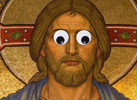 Atheists sneaking into churches and putting googly eyes on all the Christs.