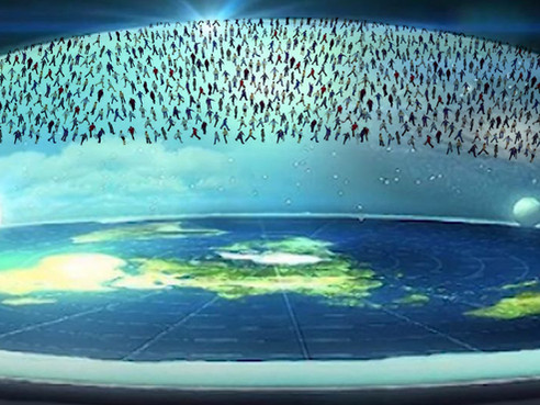 Anarchy as Flat Earth dome halts Christians ascent during the rapture.