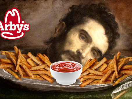 Vatican Arby's introduces The Head of John the Baptist and Fries.