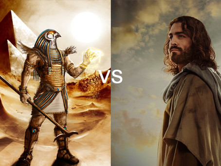 Egyptian Horus sues Galilean Jesus for intellectual property theft.
