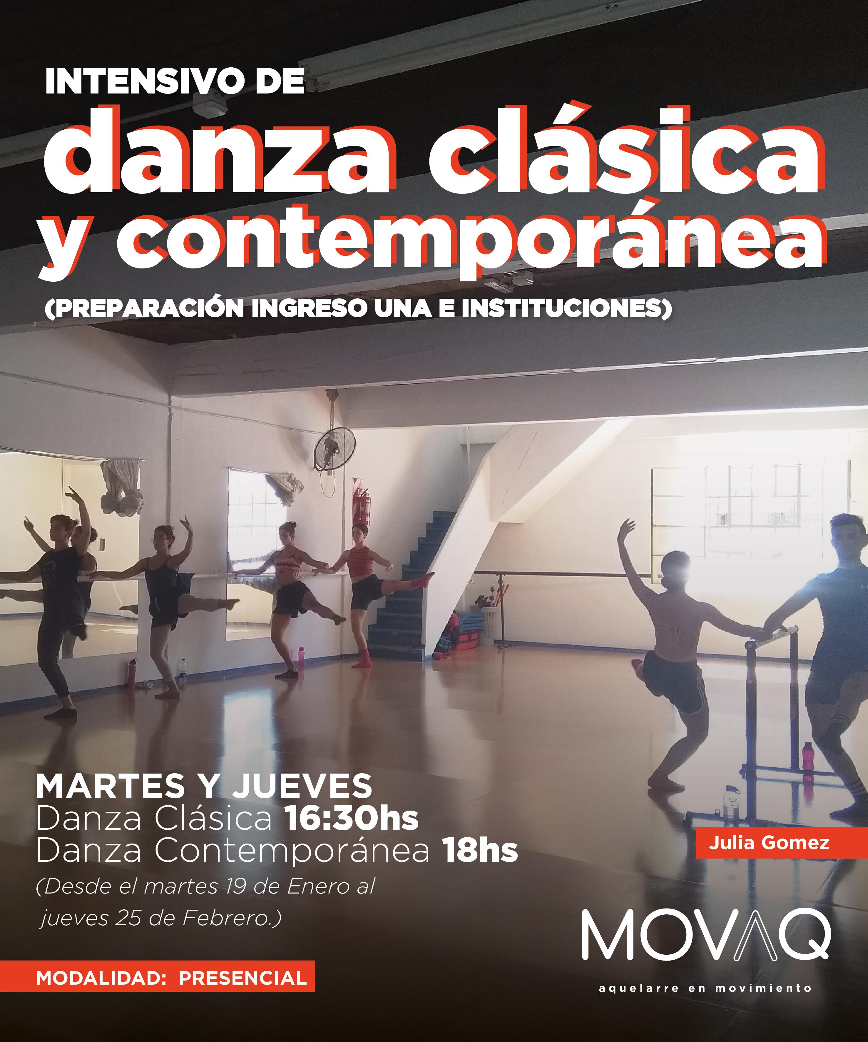 Intensivo de Danza Clásica y Contemporán