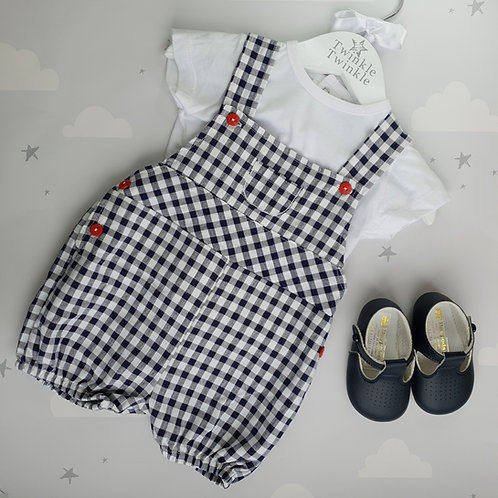 Dandelion Checked Dungaree and T-Shirt