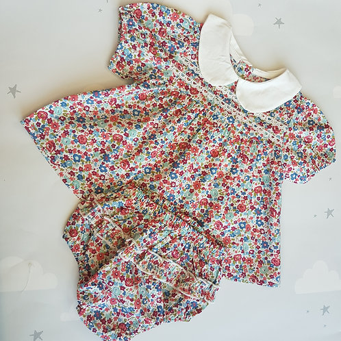 Floral Top & Bloomers Set