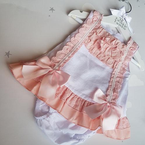 Casading Bow Dress Set