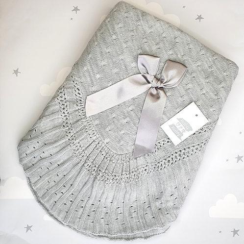 Ninas Y Ninos Luxury Grey Pleated Shawl