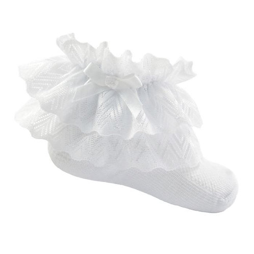 White Lace and Bow Socks