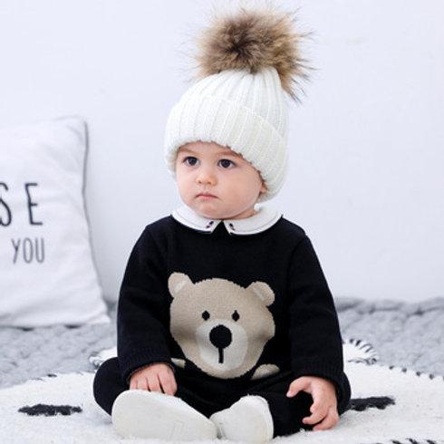 Teddy Bear Knitted Romper