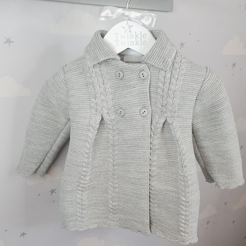 Knitted Long Coat Grey