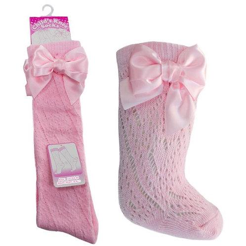 Pink Pelerine Knee Length Socks