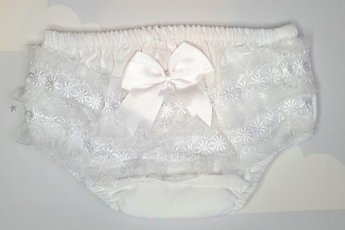 Lace and Satin Bow Frilly Pants