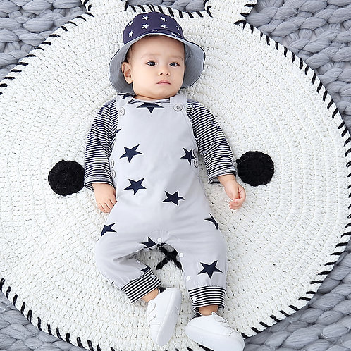 Stars and Stripe Dungarees Set