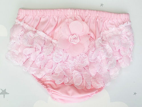 Pink Flower Frilly Pants
