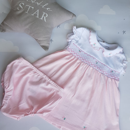 Rosebuds Smocked Dress and Bloomers