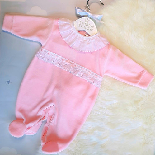 Sasha pink sleepsuit