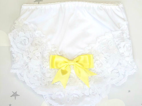 Lemon Bow Frilly Pants