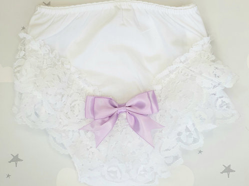 Lilac Bow Frilly Pants