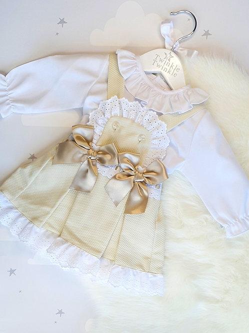 Pista Lace Pinafore Dress Set