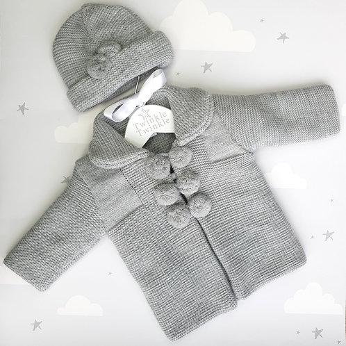 Kinder Jacket and Hat Set Grey