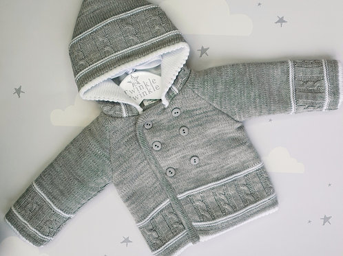Dandelion Knitted Double Breasted Hooded Jacket
