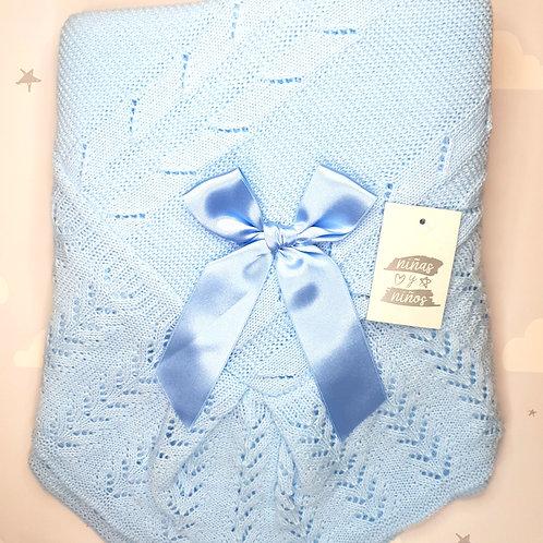 Ninas Y Ninos Luxury Blue Shawl