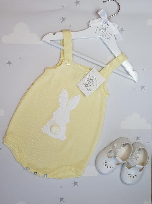 Dandelion Lemon Bunny Romper