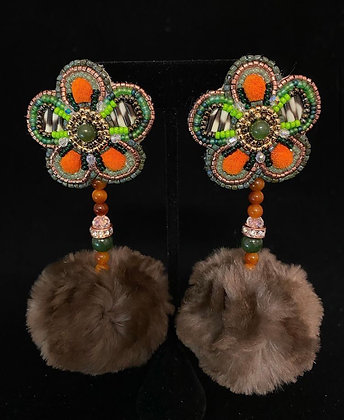Hunting Season statement earrings by Kaylyn Baker