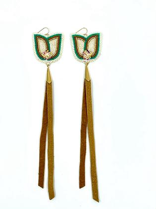 Tulip & Hide tassle dangles by Kihew and Rose