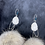 Thumbnail: Chandelier wolf pom & antler statement earrings by Erin Profeit