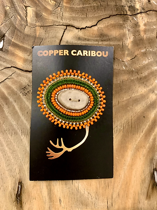 Frosted Gerber brooch by Copper Caribou