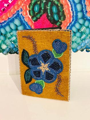 Gwich'in floral passport holder by Sharon Vittrekwa