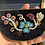 Thumbnail: 'Protective Garden' beaded velvet & hide bib necklace by Métis North
