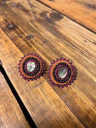 Abalone studs by Danae Earrings