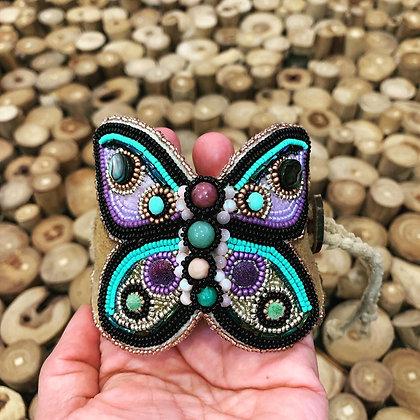 Gemstone butterfly cuff by Dream Doll Creations