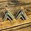 Thumbnail: Memegwasi House earrings with 24 kt gold beads by Beau Boucher