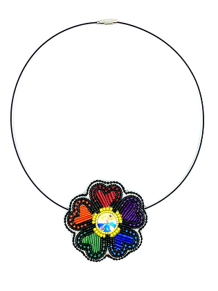 Love is love necklace by Janelle Hager
