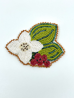 Bunchberry Brooch by Kihew and Rose