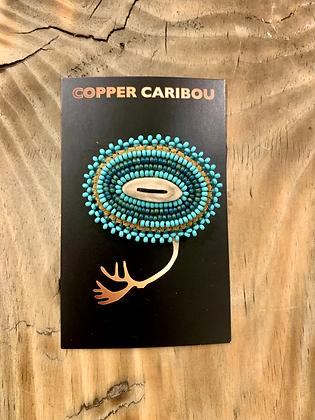 Aqua Skies brooch by Copper Caribou