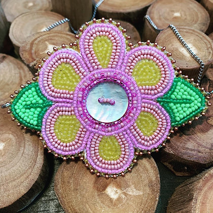 Floral statement necklace by Adanchilla Designs