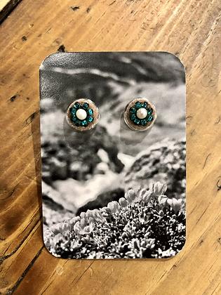 Bead & pearl studs by Wild Wandering Woman